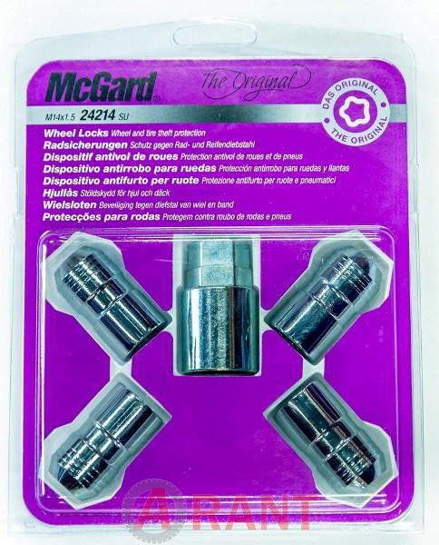 Секретки McGard 24214SU Гайка 14x1,5 39,7мм. Конус - Ключ 21