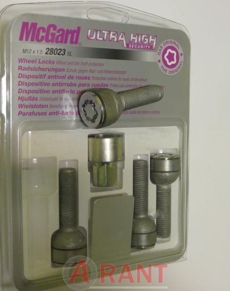 Секретки McGard 28023SL Болт 12x1,5 39,9мм. Сфера - Ключ 17 - Вращающееся кольцо