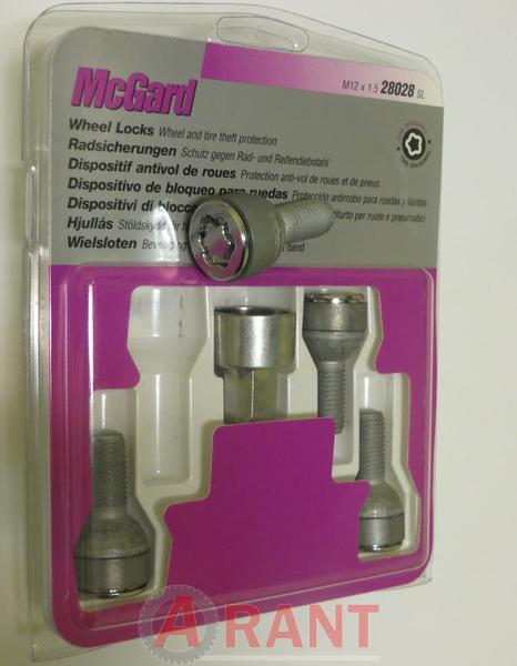 Секретки McGard 28028SL Болт 12x1,5 24,1мм. Сфера - Ключ 17 - Вращающееся кольцо